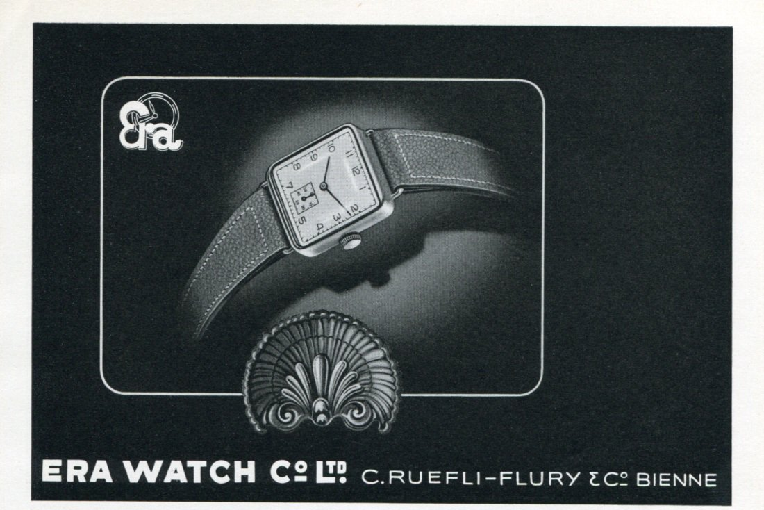 1946 Era Watch Company C Ruefli-Flury & Co Switzerland Vintage 1946 Swiss Ad Advert Suisse Schweiz