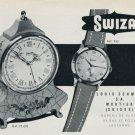 1953 Swiza Clock Company Louis Schwab Moutier Switzerland 1953 Swiss Ad Advert Schweiz Suisse Suiza