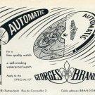 1953 Georges Brandt Watch Company Switzerland Vintage 1953 Swiss Ad Advert Suisse Schweiz Suiza