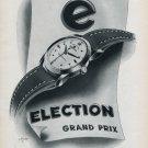 1953 Election Watch Company Switzerland Grand Prix Ad Vintage 1953 Swiss Ad Advert Suisse Schweiz