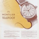 1946 Montilier Watch Company Montilier Telefoot Ad Advert 1946 Swiss Ad Suisse Schweiz Suiza