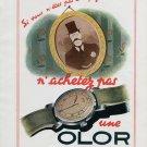 1946 Olor Watch Company SA La Chaux-de-Fonds Switzerland Vintage 1946 Swiss Ad Advert Suisse Suiza
