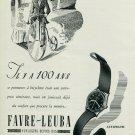 1947 Montre Favre-Leuba Watch Company Geneve Suisse Switzerland Vintage 1947 Swiss Ad Advert