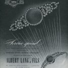 1947 Albert Lang & Fils Zurich Switzerland Vintage 1947 Swiss Ad Advert Suisse Horology