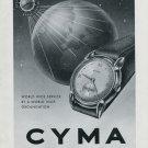 1948 Cyma Watch Company Cyma Times the World Vintage 1948 Swiss Ad Advert Suisse Switzerland