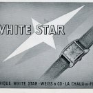 1948 White Star Watch Company Weiss & Co Switzerland Vintage 1948 Swiss Ad Advert Suisse