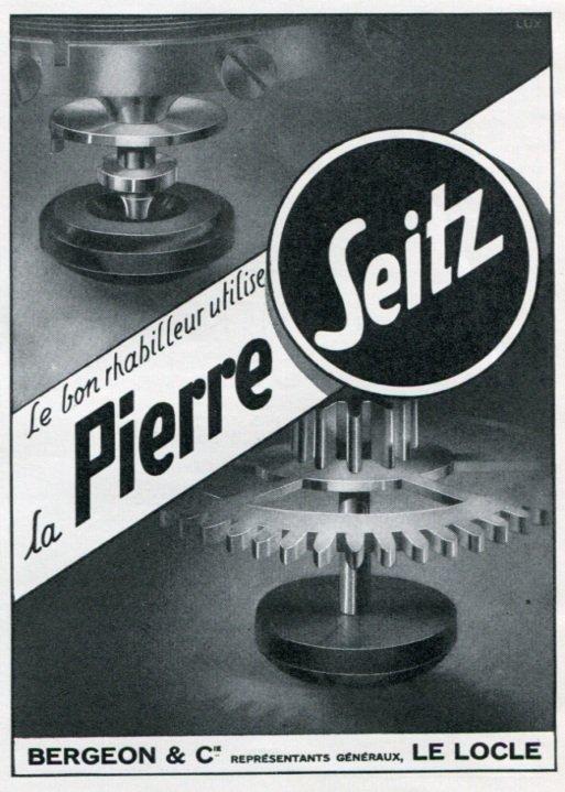 1947 Pierre Seitz Bergeon & Cie Ad Advert Switzerland Vintage 1947 Swiss Magazine Ad Print Ad