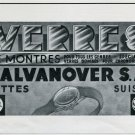 1947 Galvanover SA Buttes Suisse Switzerland Vintage 1947 Swiss Magazine Ad Advert Horology