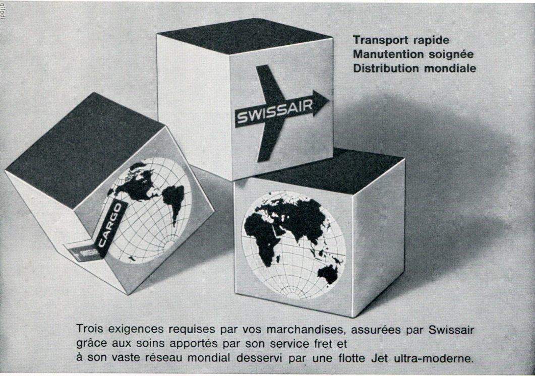 1969 SwissAir Swiss Air Airlines Switzerland Vintage Swiss Magazine Ad Suisse Advert Suiza