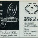 1969 Phina W Schwab-Feller Fabrique de Ressorts Swiss Magazine Print Ad Advert Horology