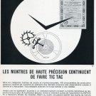 1969 Clinergic 21 Ad Advert Les Fabriques d'Assortiments Reuines Swiss Magazine Print Ad Horology