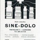 1969 Sine-Dolo Huile Extra-Fine Ad Advert Swiss Magazine Print Ad Suisse Horology Horlogerie