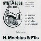 1969 Synt-A-Lube H Moebius &Fils Vintage Swiss Magazine Print Ad Advert Suisse Horology Horlogerie