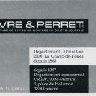 1969 Favre & Perret SA Switzerland Vintage Swiss Magazine Print Ad Advert Suisse Horology Horlogerie