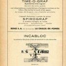 1948 Incabloc Le Porte Echappement Universel Switzerland Vintage Swiss Print Ad Advert Horology