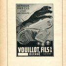 1948 Vouillot Fils SA Switzerland Vintage Swiss Print Ad Advert Suisse Horology Suiza Schweiz