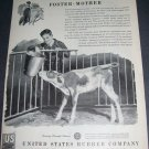 Original 1945 United States Rubber Company Farming Cows Calves Vintage 1940's Ad Magazine Advert