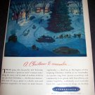 Original 1945 Studebaker A Christmas to Remember Vintage 1940s Holiday Ad Magazine Advert