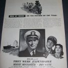 Vintage 1945 Advertisement John Wayne Robert Montgomery Magazine Ad Advert for They Were Expendable