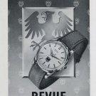 Vintage 1956 Revue Watch Company Fabriques d'Horlogerie Thommen SA Swiss Print Ad Publicite Suisse