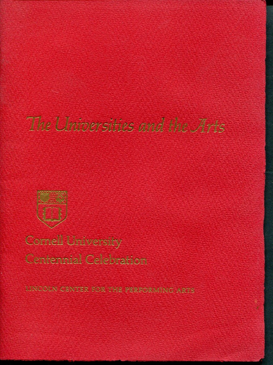 Original 1965 Cornell University Centennial Program Lincoln Center for Performing Arts 1960's