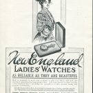 Original 1905 New England Watch Company Advertisement Vintage Early 1900's Print Ad Advert
