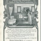 Original 1905 Standard Sanitary Mfg Co Standard Baths Bathrooms Early 1900's Print Ad Advertisement