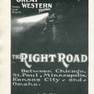Original 1905 Chicago Great Western Railway Early 1900's Vintage Ad Advert