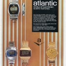 1977 Atlantic Watch Company Bettlach Switzerland 1970's Swiss Print Ad Publicite Suisse Montres