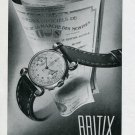 Original 1948 Britix Watch Co SA Switzerland Vintage 1940s Swiss Print Ad Publicite Suisse Montres