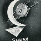Vintage 1948 Sabina Paul-Virgile Mather SA Watch Co Switzerland Swiss Print Ad Publicite Suisse