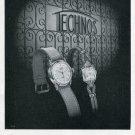 Vintage 1948 Technos Gunzinger Bros. Watch Co Switzerland Swiss Print Ad Publicite Suisse Montres