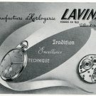 Original 1948 Lavina Watch Co Switzerland Vintage 1940s Swiss Print Ad Publicite Suisse Montres