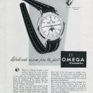 Original 1949 Omega Watch Company Worldwide Success Swiss Print Ad Publicite Suisse Omega Cosmic