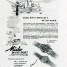 Original 1949 Mido Watch Co Switzerland Lemhi River Idaho Swiss Print Ad Suisse G. Schaeren & Co