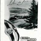 Original 1949 Nicolet Watch SA Switzerland 1940's Swiss Magazine Ad Advert Publicite Suisse
