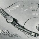1949 Lavina Watch Company Switzerland Original 1940's Swiss Print Ad Publicite Suisse Montres
