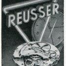 1949 Reusser Freres SA Watch Company Switzerland 1940's Swiss Print Ad Suisse Publicite Montres