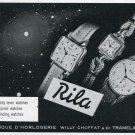 1949 Rila Willy Choffat & Cie Watch Co Switzerland Swiss Print Ad Suisse Publicite Montres