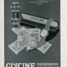 1946 Glycine Watch Company Evolution Perfection 1940's Swiss Ad Publicite Suisse Montres Suiza