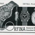 Vintage 1940 Uhrenfabrik Orfina Roland Ruefli Swiss Print Ad Publicite Suisse Montres Schweiz