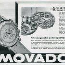 1945 Movado Watch Company Switzerland Original 1940's Swiss Print Ad Publicite Suisse Schweiz