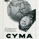 1945 Cyma Watch Company Original 1940s Swiss Print Ad Publicite Suisse Montres Tavannes