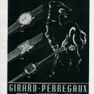 1945 Girard-Perregaux Watch Company Original 1940's Swiss Print Ad Publicite Suisse Montres Mimo