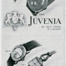 1945 Juvenia Watch Company Original 1940's Swiss Print Ad Publicite Suisse Schweiz Montres