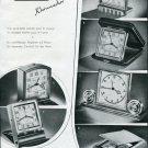 Vintage 1946 Jaeger Clock Company Switzerland 1940's Swiss Ad Advert Publicite Suisse Schweiz