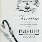 1946 Favre-Leuba SA Watch Co. Switzerland Original 1940's Swiss Print Ad Publicite Suisse Montres