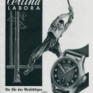 1945 Certina Labora Watch Advert Lumberjack Logger Kurth Freres SA Vintage Swiss Print Ad Advert