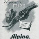 1945 Alpina Union Horlogere S.A. Switzerland Swiss Print Ad Publicite Suisse Montres