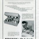 1945 Bergeon & Cie Schweizerische Mustermesse Basel Swiss Ad Advert Schweiz